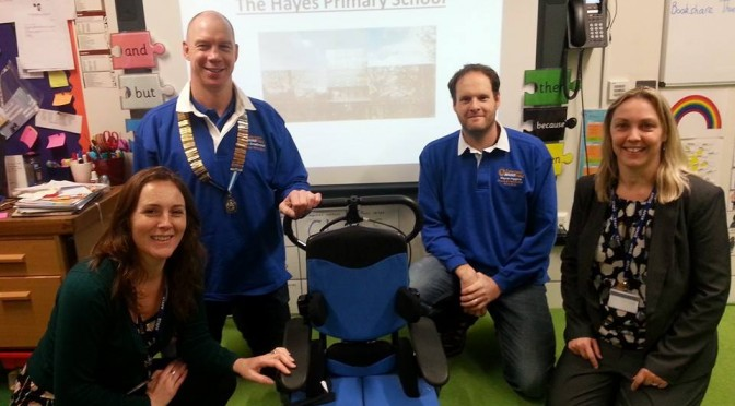 Caterham Round Table funds new electric assistance chair
