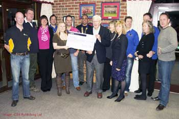 Round Table chairman presents cheque to the NSPCC